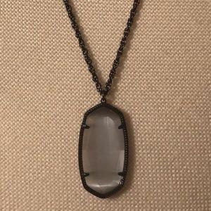 KS Rae Gunmetal Necklace In Slate